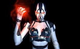 Advanced cyborg character Stock Photos