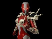 Advanced cyborg character Royalty Free Stock Image