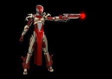 Advanced cyborg character Stock Photo