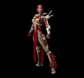 Advanced cyborg character Stock Images