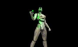 Advanced cyborg soldier Royalty Free Stock Photos