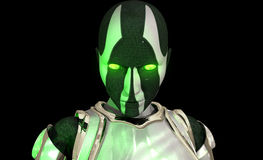 Advanced cyborg soldier stock illustration