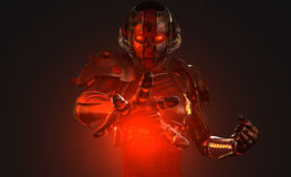 Advanced cyborg soldier Royalty Free Stock Image