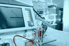 Advanced equipment in hospital ward. Advanced medical equipment in hospital ward Royalty Free Stock Photo