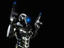 Advanced future soldier Stock Photo