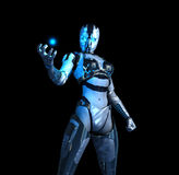 Advanced futuristic cyborg soldier Stock Images