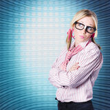 Innovative marketing woman looking at copyspace Stock Images