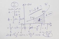 Advanced mathematics example Royalty Free Stock Images