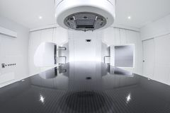 Advanced medical linear accelerator in the therapeutic oncology Royalty Free Stock Photo