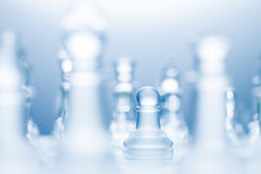 Advanced pawn. Royalty Free Stock Photography