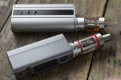 Advanced personal vaporizer or e-cigarette. Close up Stock Image