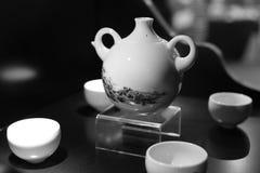 Advanced porcelain wine set Royalty Free Stock Photo