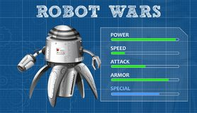 Advanced robot design with feature board. Illustration Royalty Free Stock Image
