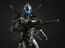 Advanced super soldier. 3d render of a advanced super soldier Royalty Free Stock Images