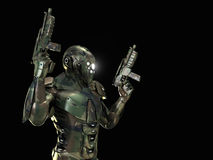 Advanced super soldier Royalty Free Stock Images