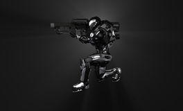 Advanced super soldier Royalty Free Stock Image
