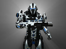 Advanced super soldier Royalty Free Stock Photography