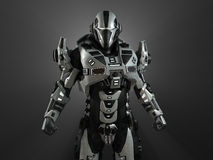 Advanced super soldier. 3d render of advanced super soldier Royalty Free Stock Images