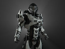 Advanced super soldier Royalty Free Stock Photos