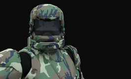 Advanced super soldier Stock Images