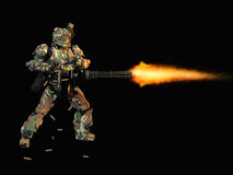 Advanced super soldier Stock Photography