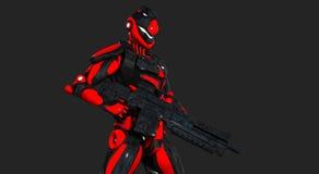 Advanced super soldier Stock Image