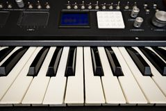 Advanced synthesizer. Home made advanced synthesizer prototype Royalty Free Stock Images