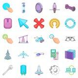 Advanced technologies icons set, cartoon style Stock Photo