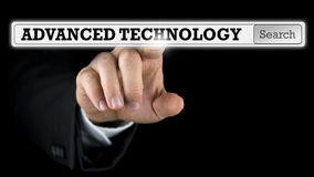 Advanced Technology written on a virtual interface Royalty Free Stock Photos