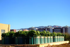 The advanced Waste Water Treatment Plant. The panoramic view of a fully enclosed advance waste water treatment plant in Kunming royalty free stock photography