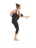 Advanced yoga posture demonstration Stock Images