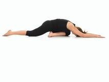 Advanced yoga practice variation Stock Photo