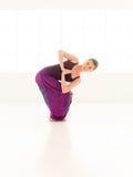 Advanced yoga practice Stock Image