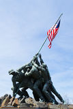 Advancing with the American Flag Royalty Free Stock Photography