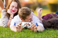 Advancing technology social network Royalty Free Stock Photos