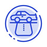 Advantage, Authority, Car, Carpet, Comfort Blue Dotted Line Line Icon stock illustration