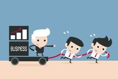 Advantage business concept. Cartoon stock illustration