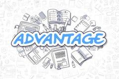 Advantage - Cartoon Blue Text. Business Concept. Stock Photo