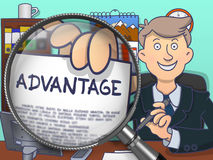 Advantage through Magnifying Glass. Doodle Concept. Royalty Free Stock Photo