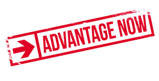 Advantage Now rubber stamp Royalty Free Stock Images