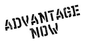Advantage Now rubber stamp. Grunge design with dust scratches. Effects can be easily removed for a clean, crisp look. Color is easily changed Royalty Free Stock Photo