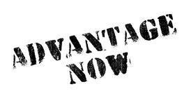 Advantage Now rubber stamp. Grunge design with dust scratches. Effects can be easily removed for a clean, crisp look. Color is easily changed Stock Image