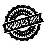 Advantage Now rubber stamp Royalty Free Stock Photography