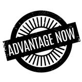 Advantage Now rubber stamp Stock Photography