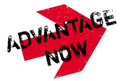 Advantage Now rubber stamp Royalty Free Stock Photos