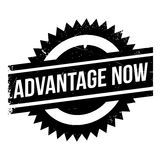 Advantage Now rubber stamp Stock Images