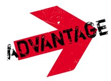 Advantage rubber stamp Royalty Free Stock Photo