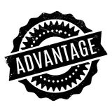 Advantage rubber stamp Royalty Free Stock Photos