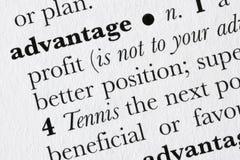 Advantage word dictionary defi royalty free stock image