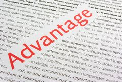 Advantage Stock Image